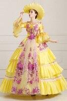 2016 European Court Dress Retro Luxury Stage Uniform Halloween Queen Cosplay Costume Make Up Party Dress