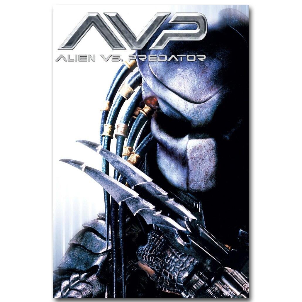 "AVP Alien vs Predator 24/""x36/"" Silk Fabric Movie Poster New"