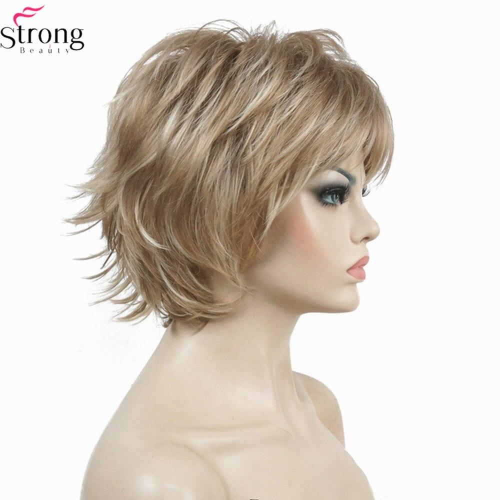StrongBeauty Περούκα Γυναικών Μαύρο / - Συνθετικά μαλλιά - Φωτογραφία 1
