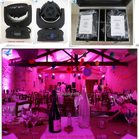 (2/lot) fly case Stage dj disco zoom moving lyre 36x15w RGBWA 5IN 1 zoom wash led moving head