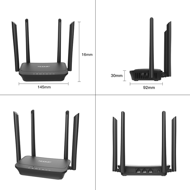EDUP Wifi Mobile Hotspot – 300Mbps 4G LTE Wi-Fi Router 4G LTE FDD with SIM Slot LAN Port