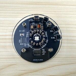 Image 2 - 1 bit แบบบูรณาการหลอดเรืองแสงนาฬิกาสำหรับ 18 นาฬิกาเรืองแสงหลอด nixie CLOCK ในตัว Boost โมดูล 5V MicroUSB