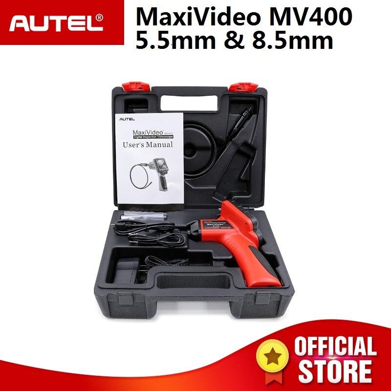 Autel Maxivideo MV400 5.5 milímetros Videoscope Digital com 8.5 milímetros de diâmetro câmera de inspeção cabeça imager MV 400 Multipurpose Videoscope