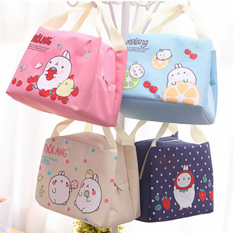 1pc Children Kids Lunch Bags Insulated Cool Picnic Home Storage Bag School Lunchbox Folded Portable Cute Lovely New