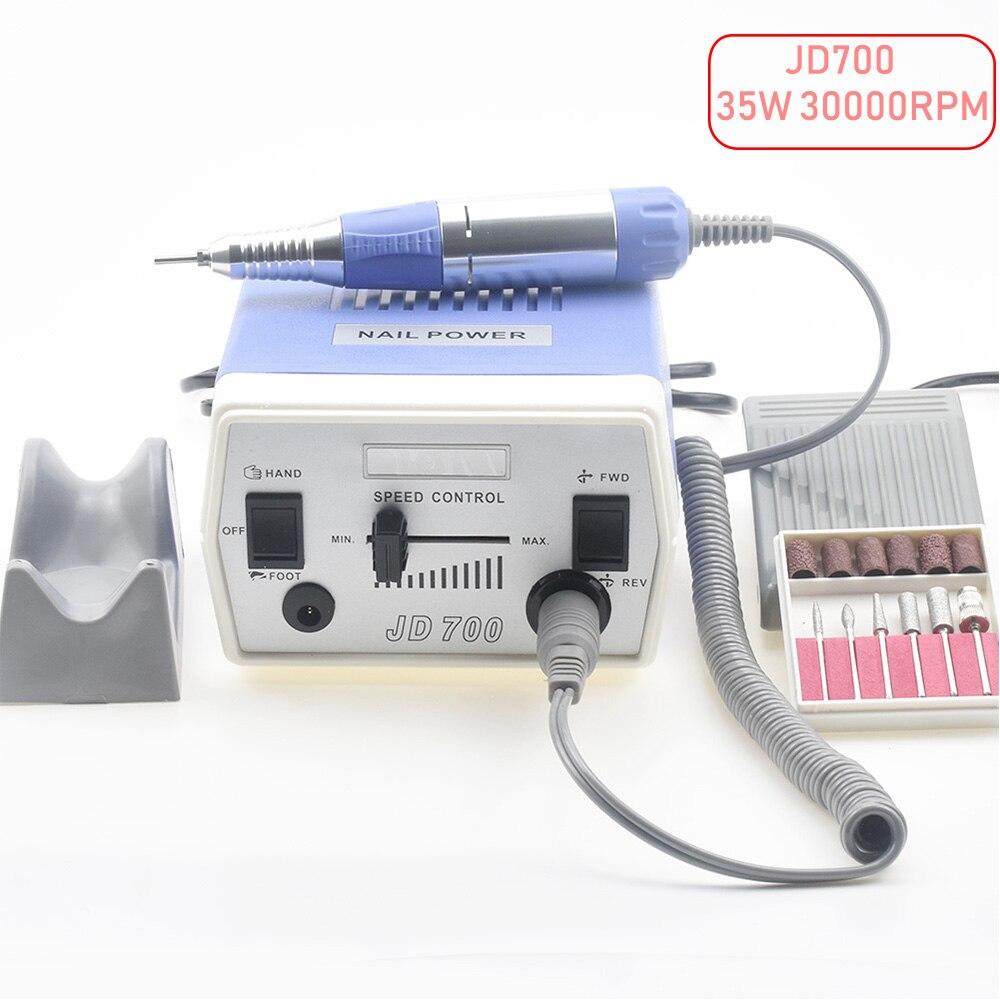 35 w 30000 rpm Électrique Nail Forage Machine Manucure Pédicure Fichiers Outils Kit Nail Polisseuse Broyage Vitrage Machine Pour Gel polonais
