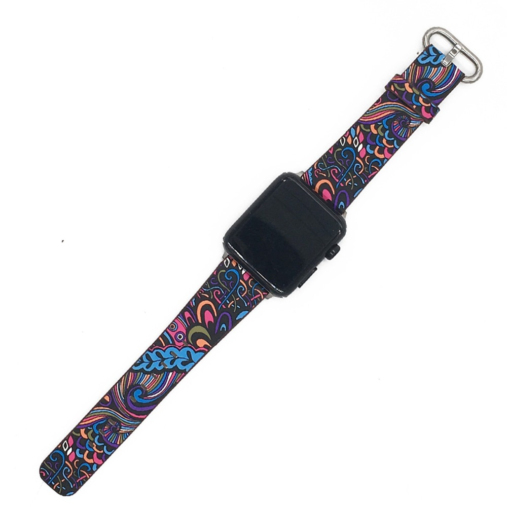 Floral Print Band for Apple Watch 32