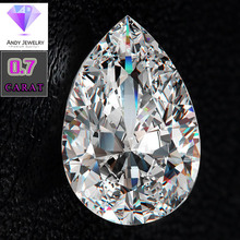 old mine cut white color 7*5mm 0.7 ct moissanite water drop shape loose
