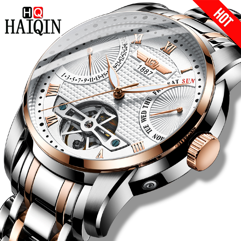 c558240acfb7 HAIQIN Men s watches Mens Watches top brand luxury Automatic mechanical sport  watch men wirstwatch Tourbillon Reloj hombres 2018