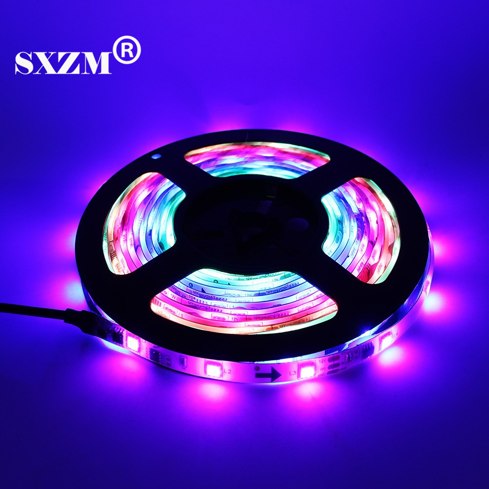 SXZM IC 2811 DC12V 5050 RGB LED strip light flexible tape Waterproof safe ribbon 5M/roll 150Leds outdoor decoration RoHS CE