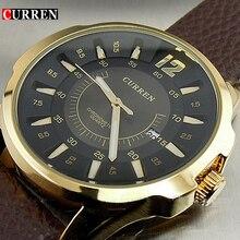 Relógios de quartzo Homens Marca De Luxo de Couro Relógio Casual Com Data Relógio dos homens do Relógio de Pulso Masculino Reloj Relogios masculinos