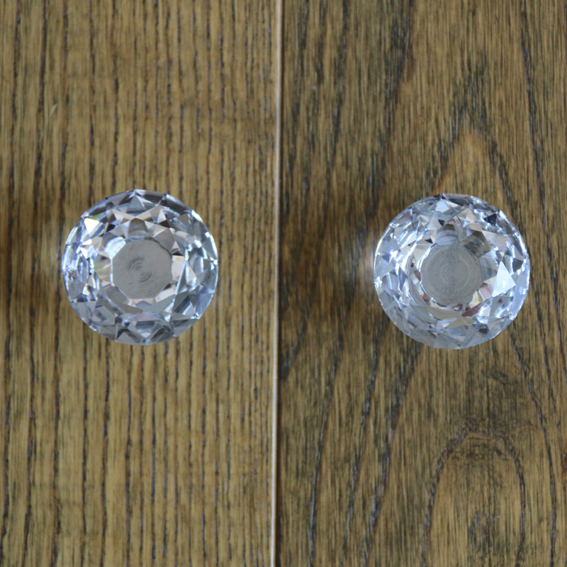 2pcs 40mm Clear Glass Crystal Cabinet Knobs Drawer Cupboard door Handle Closet Dresser Knob pull Diamond Pattern 5pcs 25mm square clear crystal glass door knob diamond cabinet knobs kitchen cupboard drawer dresser handles knobs