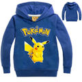 Pokemon Go Tops Autumn Casual Baby Kids Boy Girls Pull-over  Coat Hoodies Sweat BlueTops Age 5-6 years