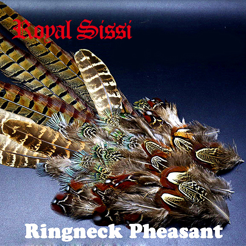 HOT 1set natural ringneck pheasant feathers assorted ringneck pheasant tails&selected saddle tippets fly tying feather materials