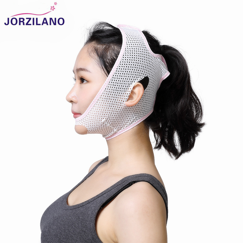 JORZILANO Face Lift Up Belt Thin Face Mask Slimming Facial Masseter Chin Skin Care Thin Face Shaper Bandage Belt Health Care M/L