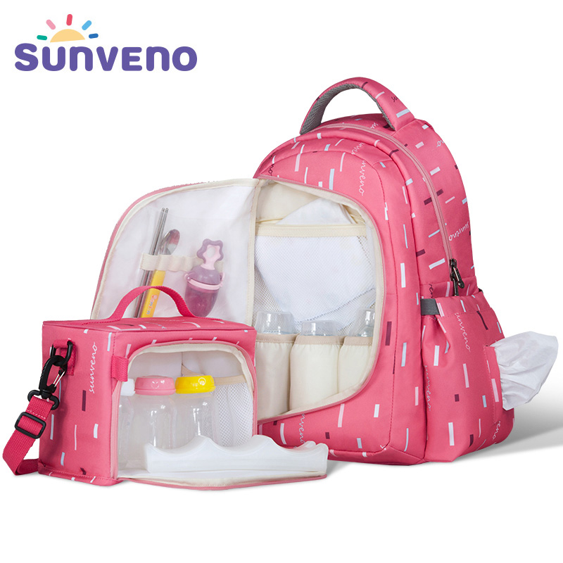 SUNVENO Waterproof Diaper Nappy Bag Organizer Multifunctional Mummy Maternity Bag with Small Bag Inside