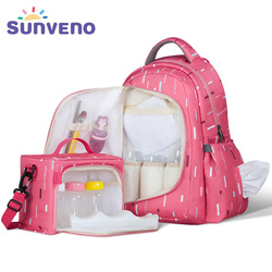 Sunveno waterproof diaper nappy bag organizer multifunctional mummy maternity bag with small bag inside.jpg 250x250