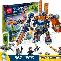 517pcs Knights Tech Wizard Showdown Clay Battle Suit Monstrox 10817 Figure Building Blocks Toys Nexus Compatible With Lago