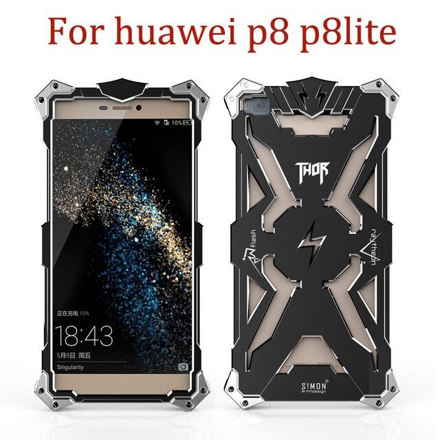 Caso armadura de metal caixa do telefone para huawei p8 p8 lite simon thor ironman originais caso capa protetora para huawei p8 fundas