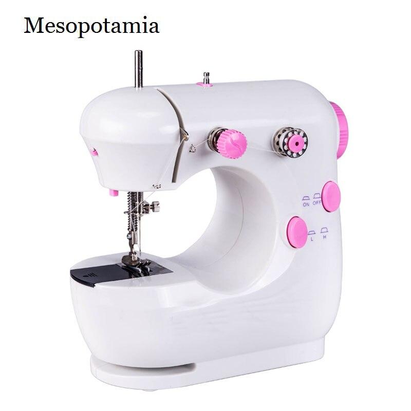 DIY Mini Pink elektrický šicí stroj Nový domov Mini šicí stroje Domácí Zahrada Umění Řemesla Šití Oblečení Šití