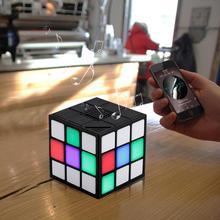 New Stylish Mini Magic Cube-Shaped Colorful Wireless Portable Bluetooth Speaker LED Flash Light with TF Card Handsfree