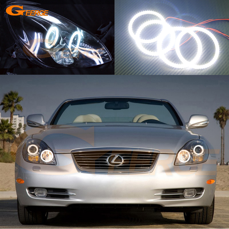 For lexus SC 430 SC430 2005 2006 2007 2008 2009 2010 Excellent smd led Angel Eyes Ultra bright illumination led Halo Ring kit