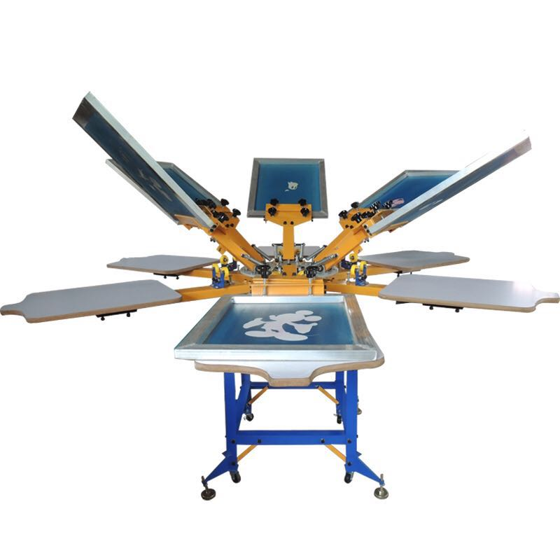 8 colors t shirt screen printing machine for sale in for T shirt screen printers for sale