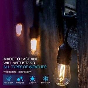 IP65 15 м Светодиодные S14 гирлянды Водонепроницаемые E27 теплые светодиодные ретро лампы накаливания Эдисона уличное садовое патио праздничное...