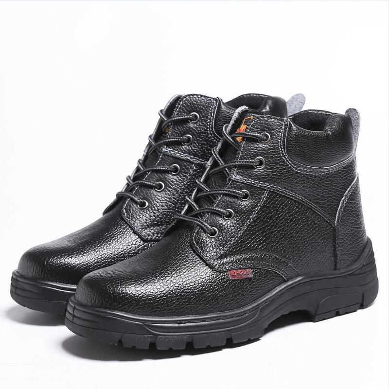 big size men's fashion black steel toe covers working safety shoes soft leather platform site tooling ankle boots security male торшер kombi 1704 1f favourite 1143982