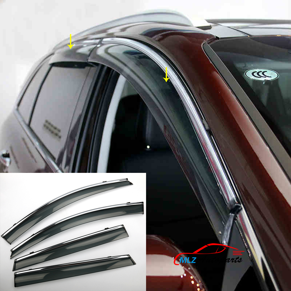 Car Parts Vent Wind Deflector Molding Sun Rain Guards Door Windows Visor Shield For KIA Sorento 2016 window rain deflector visor super 4pcs set vent shade sun guard shield for infiniti fx 35 37 50 2009 2010 2011 2012 2013