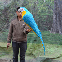 huge simulation blue&yellow parrot model polyethylene&furs big parrot toy gift 100cm