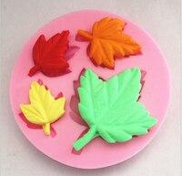 ارتفع 3d حية يترك فندان أدوات العفن سيليكون قالب السكر حرفة تزيين الكعكة كلاي diy