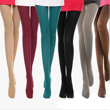 3pcs Big Size Spring Autumn Winter Warm Women Sexy Pantyhose Nylon 140D Velvet Candy Color Seamless lidies long stocking(China)