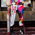 Плюс Размер Печатных Женщин Гарем Брюки Камуфляж Брюки-Карго Случайные Свободные Мешковатые Штаны 2016 Осень Зима Хип-Хоп Брюки