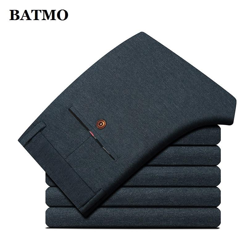 BATMO 2019 New Arrival High Quality Casual Skinny Pants Men,men's Slim Trousers,men's Pencil Pents Plus-size 28-40