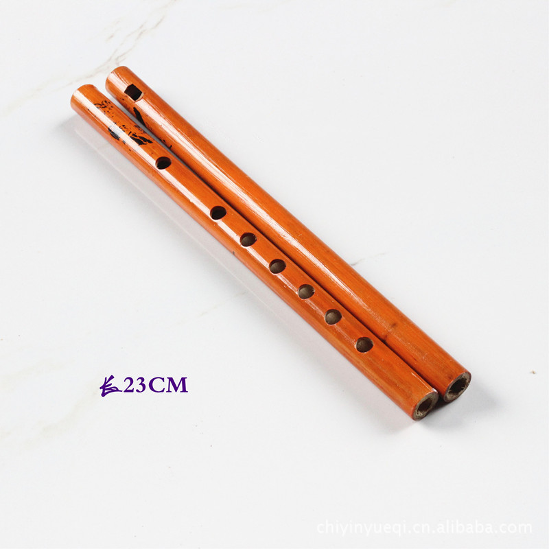 1PC Chinese Traditional 6 Holes Bamboo Flute Vertical Flute Clarinet Student Musical Instrument Wooden Color