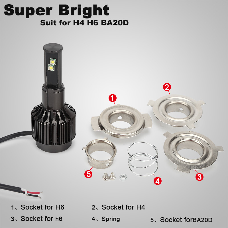 Green-L H6 H4 Led Motorcycle Headlight 12V 3500lm BA20D H6 Moto Bike Lamp Scooter Motorb ...