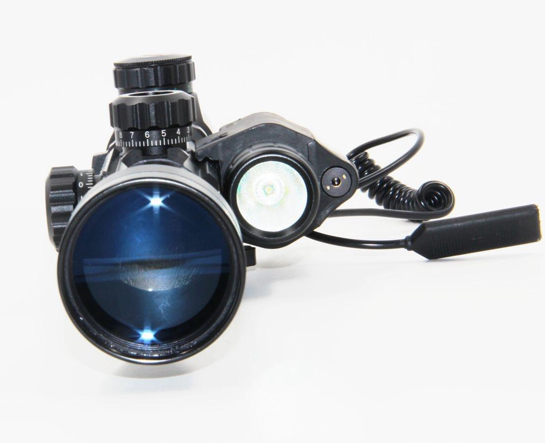 ФОТО Hong Kong post 3-9x40EG Riflescope Combo M6 Red Laser Sight LED Flashlight  w/ 20mm Weaver Rail For Shooting Arms Weapon