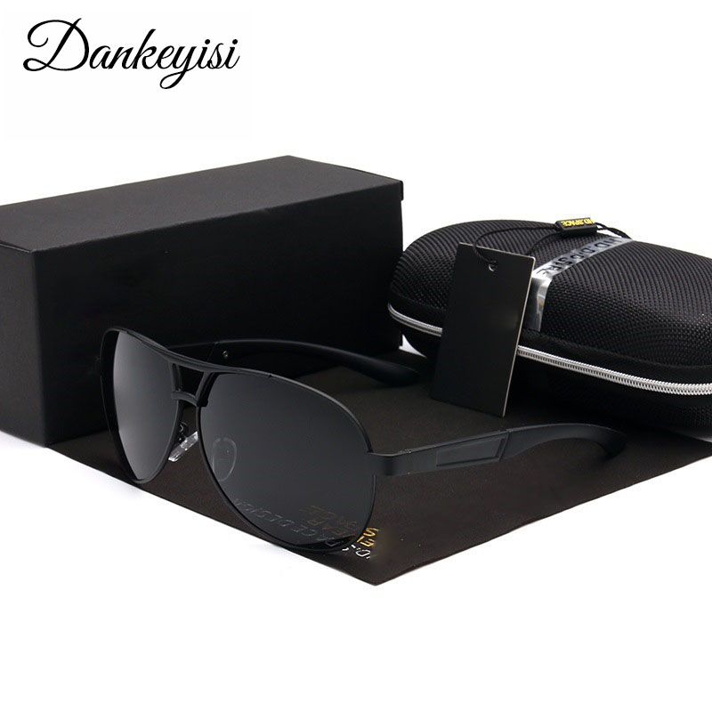 3a680a8b01 Dankeyisi hombres Gafas de sol polarizadas piloto vintage conductor  masculino Gafas de sol UV400 Eyewear Pesca Sol Gafas para hombres caja libre