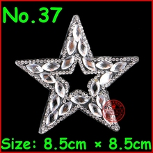 3pcs/Lot NEW Star hotfix rhinestone Heat transfer design iron on Motif Crystal Diy Accessories Rhinestonesl Patches