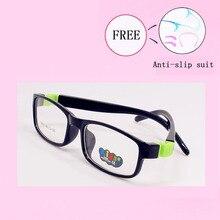Модные оптические очки Рамка для детей мальчик девочки дети оправы очков для близорукости без линзы увеличивающие унисекс Рамка 8812-25
