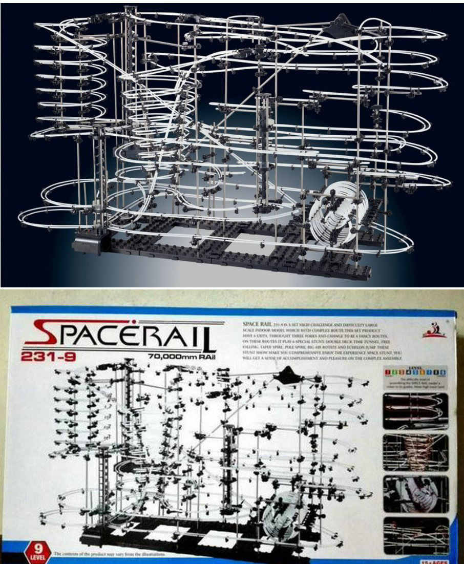space warp spacerail New Space Raill Funny Building Kit Roller Coaster Toys SpaceRail Level 9, DIY Spacewarp Erector Set 7000mm