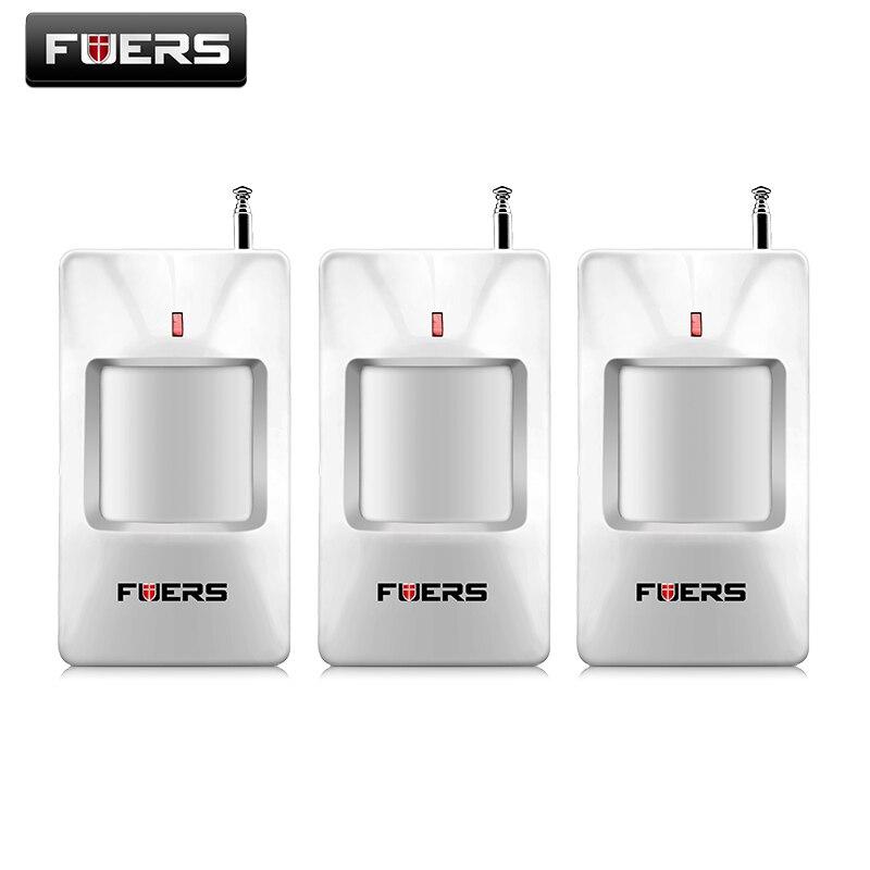 3pcs/lot of Hot selling wireless alarm PIR sensor detector (CE certificate) for G18 G19 W2 Q2 10A alarm system motion detector 2 pcs fi5 g18 bp6l q12