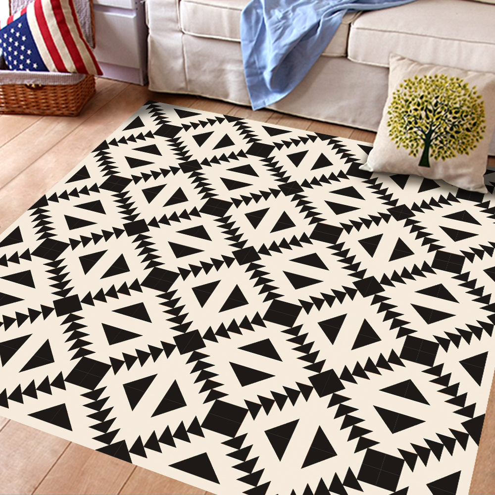 3d creative high end black white floor sticker geometric simulated 3d creative high end black white floor sticker geometric simulated european floor tile sticker home decoration diy mural in wall stickers from home garden dailygadgetfo Image collections