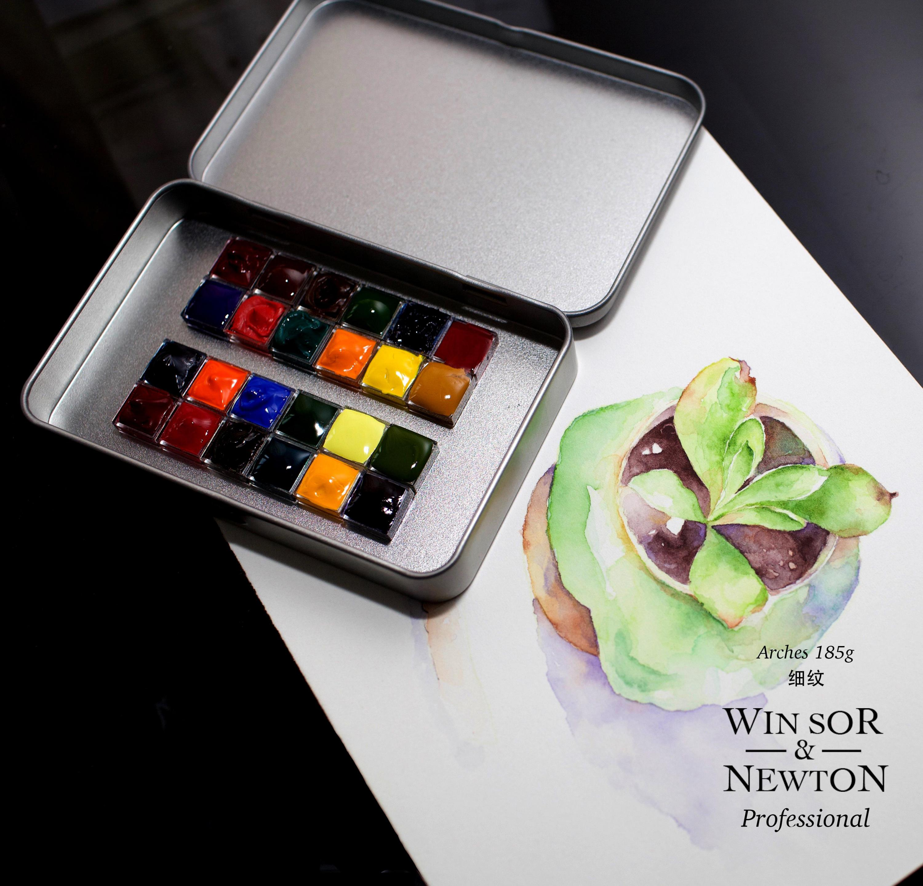 Windsor Newton, Artist Class Watercolor 24 Colors Watercolor Sub Package Warm Art 24 Color 0.5ml Trial tray Dispensing plate japan holbein expert level transparent watercolor seven gods 12 colors 1 2ml solid watercolor trial tray dispensing plate