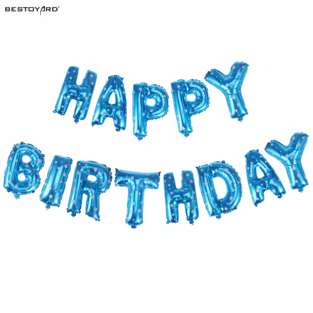 Inch Happy Birthday Balloons Party Decoration Letters Alphabet