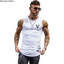 new Men's Quick Dry Tank Tops Running Vest Fitness Sleeveless Undershirts Male Gym Tank Top Men Sport training Hole Vest