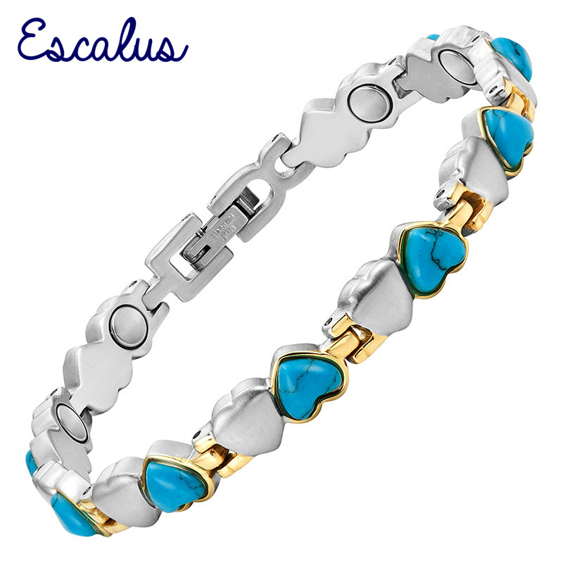 Escalus Ladies Classic Magnet Jewelry Heart Stone Bracelets For Women Silver Color Valentines Gift Bangle Magnetic Bracelet|stone bracelet|ladies braceletsbracelet bracelet - AliExpress