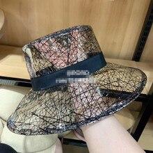 01903-axi  2019 Fashionable transparent PVC punk rock sun cap men women leisure street hat