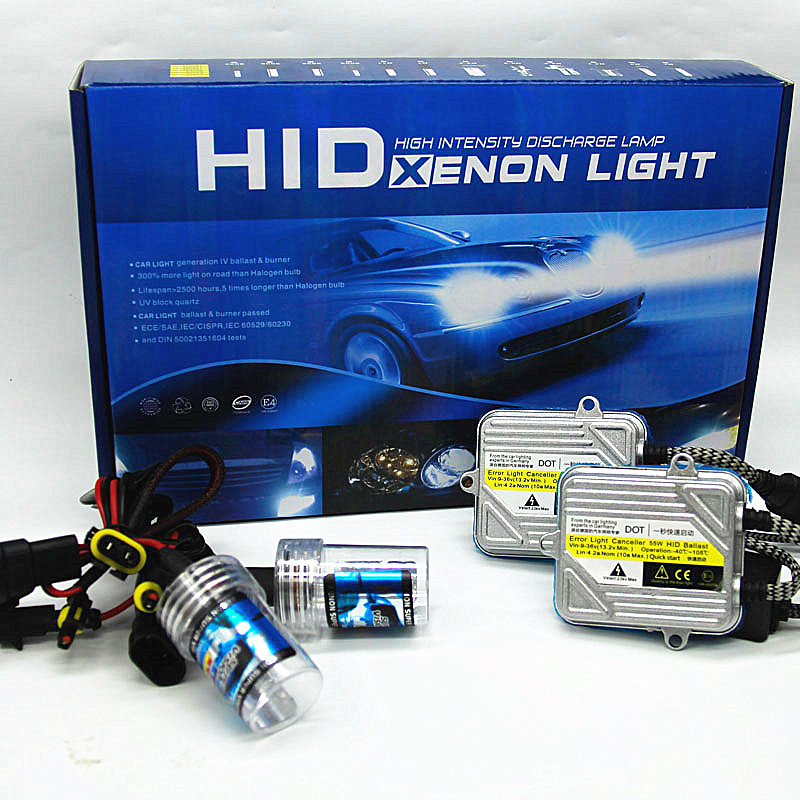цена на 20 kits H7 H11 9005 HB3 9006 HB4 car 55w hid xenon conversion kit 4300k 6000k 8000k H1 H3 H4 9004 9007 H13 lamp