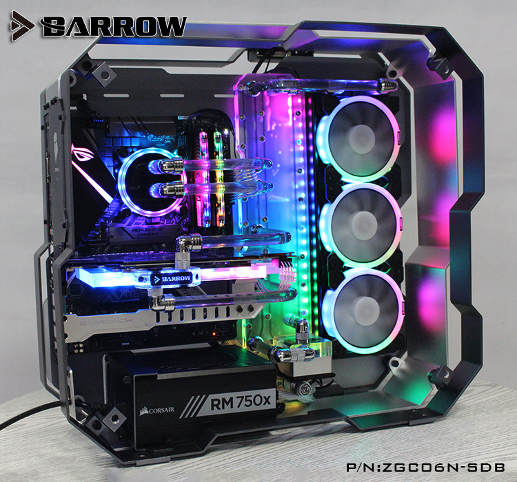 Barrow ZGC06N-SDB, Waterway Boards For Zidli ZG06 Case, For Intel CPU Water Block & Single GPU Building цена и фото